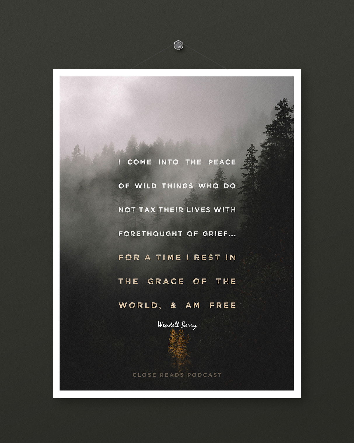 Wendell Berry Poster