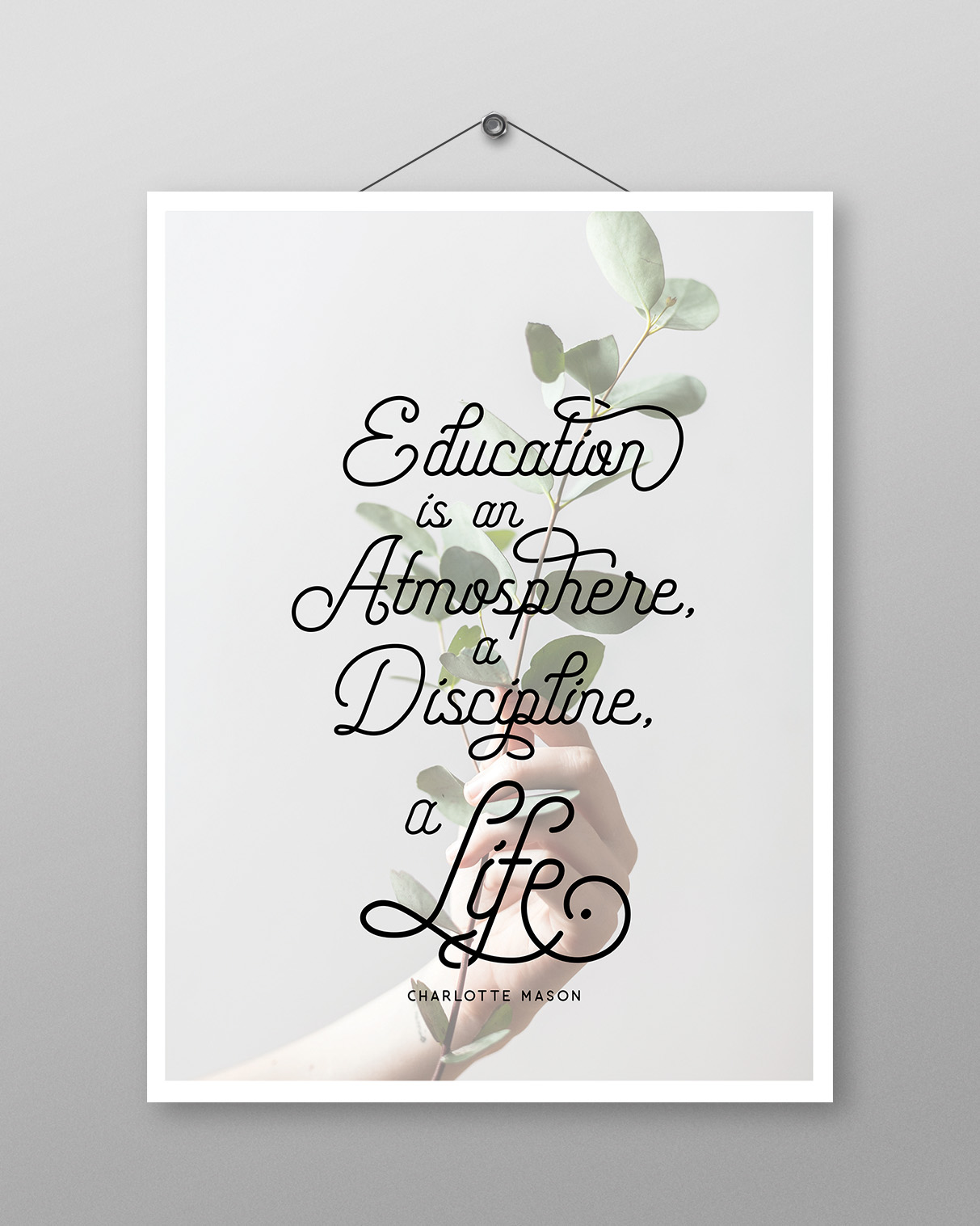 Atmosphere, Discipline, Life Poster